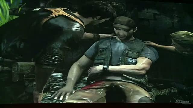 Uncharted 2 Among Thieves PlayStation 3 Gameplay - Active Cinematic (Off-Screen)