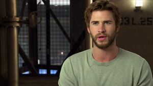Mockingjay Part 1 - Liam Hemsworth Gale Interview