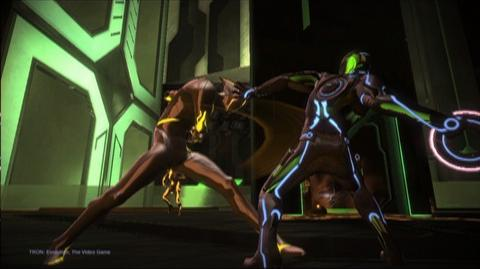 TRON Evolution The Video Game (VG) (2010) - BOSTRUM Gameplay trailer