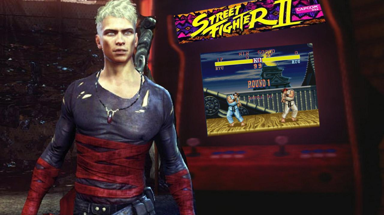 DMC Devil May Cry - Street Fighter 2 Easter Egg