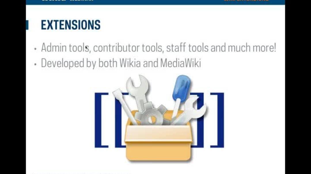 Wikia Webinar - Extensions