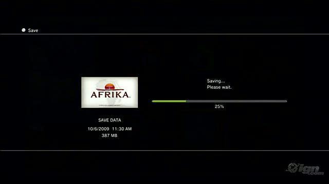 Afrika PlayStation 3 Gameplay - Saving