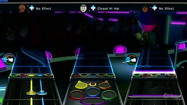 Band Hero Nintendo Wii Gameplay - Mii Rock