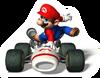 Brawl Sticker Mario (Mario Kart DS)