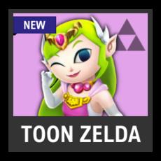 Super Smash Bros. Strife character box - Toon Zelda