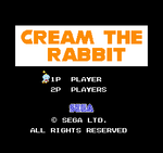 Cream the Rabbit Title Screen