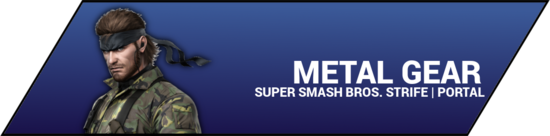 SSBStrife portal image - Metal Gear
