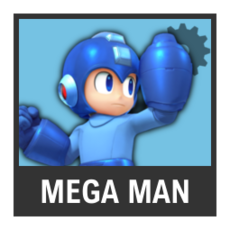 Super Smash Bros. Strife character box - Mega Man