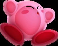 Kirby Triple Deluxe - Kirby aplastado