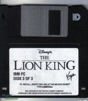 The Lion King disk DOS USA