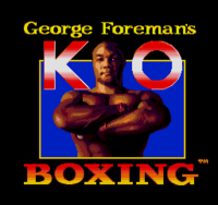 George Foreman's KO Boxing título MD