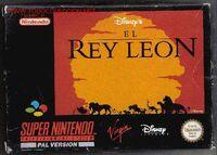 El Rey Leon portada SNES