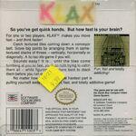 Klax Game Boy reverso usa