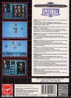 Speedball 2 contraportada Mega Drive EUR
