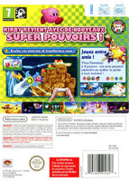 Kirby's Adventure Wii portada BACK