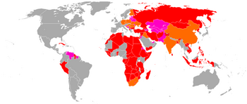 World wide operators of the AK-47