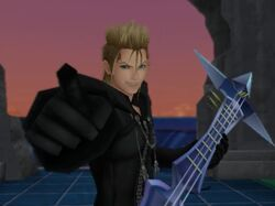 Demyx about to fight Sora