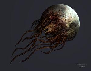 Dead space 3 - moon boss concept art