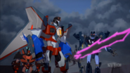 Starscream with Shadelock, Roughedge & the Dark Star Saber