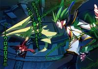 Terumi fighting Tomonori