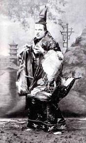 Richard Temple as the Mikado in the original opera production.