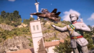 JC3 jet and statue