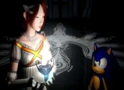 Sonic the Hedgehog & Princess Elise the Third with the Flame of Solaris