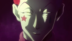 Hisoka's creepy grin