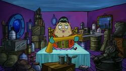 SpongeBob SquarePants Mrs. Puff with harpoon