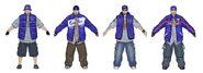 Westside Rollerz Concept Art - 4 gang members
