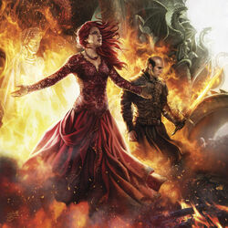 Stannis Melisandre burning the Seven