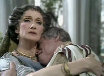 Brian Blessed and Siân Phillips as Augustus and Livia