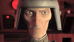 Grand Moff Tarkain's evil glare