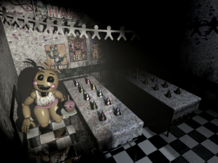 Toy Chica Entering Vent