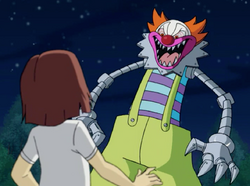 The Clown about to devour Stacy