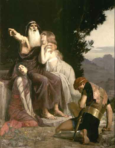 the exile of oedipus Oedipus blinds himself and goes into exile in spite of all these plot elements, the dramatic setting of the play encompasses only elements 9 and 10, from the plague to the final revelation of the truth that is, by the time.