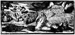 German Woodcut Werewolf