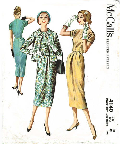1957 Kimono Sleeve Dress Jacket cropped