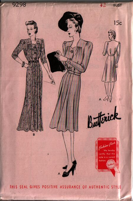 Butterick 9298 front