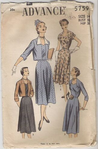 Avance-5759-vintage-pattern-noir-dress-1947