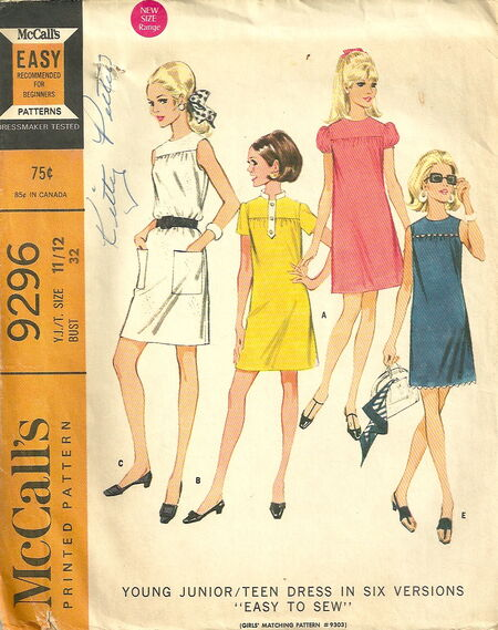 McCalls 9296 Dress in Six Versions 2