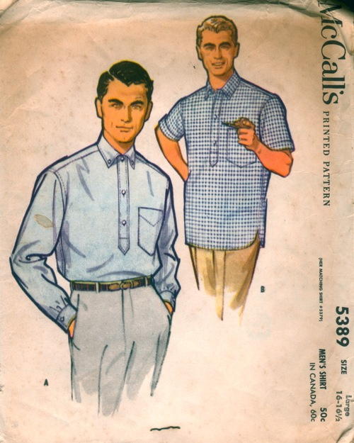 Mccall 39 s 5389 vintage sewing patterns fandom powered for Custom pattern button down shirts