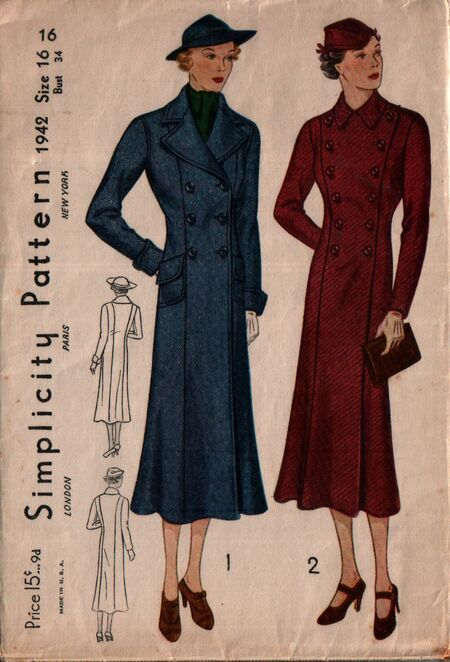 Simplicity 1942 front
