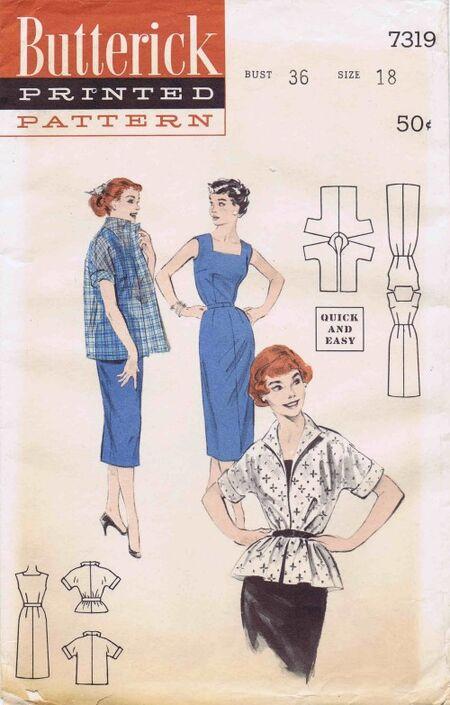 Butterick 1955 7319
