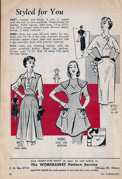 Mail Order 4751 4857 9090 Sewing Pattern