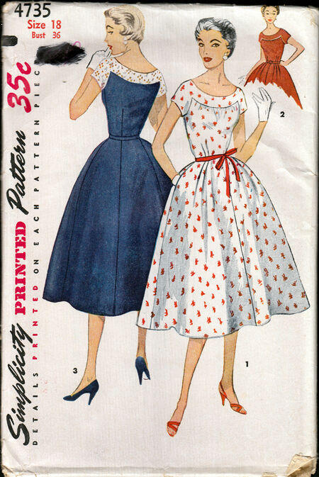 Simplicity 4735 pattern from Penelope Rose at Artfire