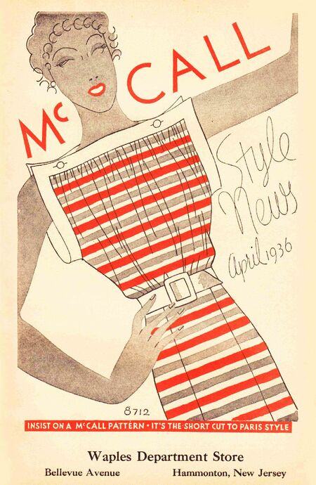 McCall Style News April 1936