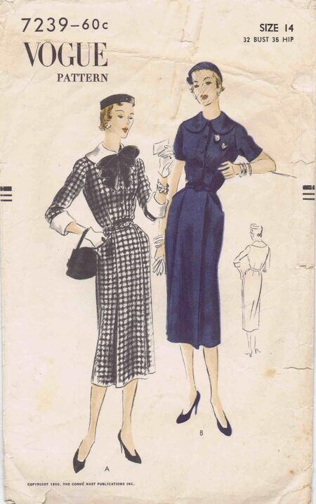 Vogue 1950 7239