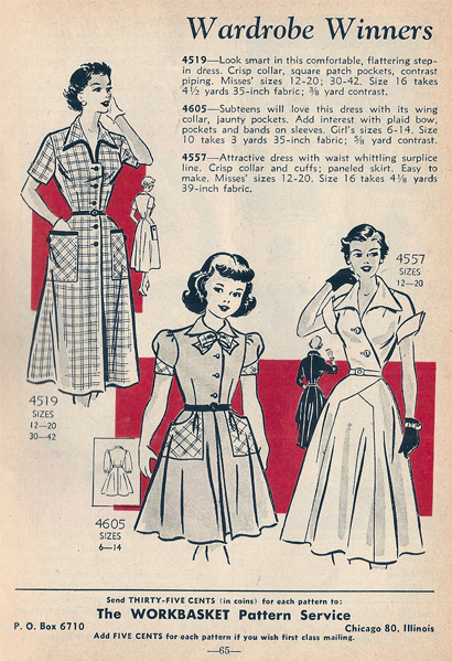 Mail Order Patterns 4519 4605 4557