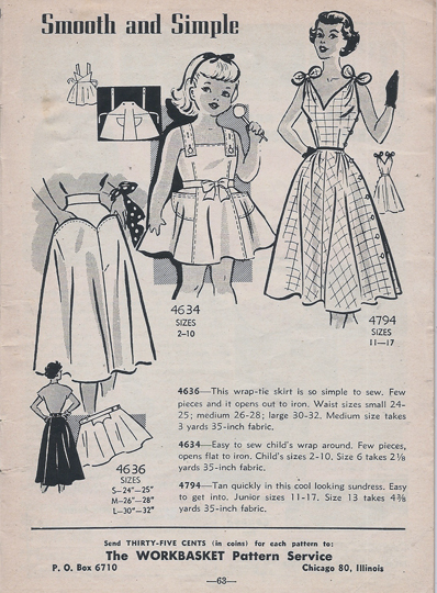 Mail Order 4616 4634 4794 Sewing Pattern
